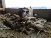 Απόβλητα κατασκευής Στοκ εικόνες με δικαίωμα ελεύθερης χρήσης
