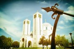 Απόγευμα δίπλα στην εκκλησία, ΝΑΚ, Σερβία Στοκ Εικόνες
