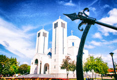 Απόγευμα δίπλα στην εκκλησία, ΝΑΚ, Σερβία Στοκ φωτογραφία με δικαίωμα ελεύθερης χρήσης