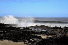 Απόγευμα ακτών του Όρεγκον στοκ εικόνα