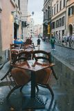 Απόγευμα Λάτσιο, Ιταλία βροχής της Ρώμης στοκ εικόνα με δικαίωμα ελεύθερης χρήσης