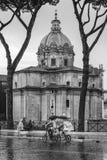 Απόγευμα Λάτσιο, Ιταλία βροχής της Ρώμης στοκ φωτογραφίες