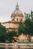 Απόγευμα Λάτσιο, Ιταλία βροχής της Ρώμης στοκ εικόνες
