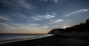 Απόγευμα σε μια τέλεια παραλία στο νησί Anafi Στοκ φωτογραφία με δικαίωμα ελεύθερης χρήσης