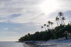 Απόγευμα στην ακτή κοραλλιών των Φίτζι στοκ φωτογραφίες με δικαίωμα ελεύθερης χρήσης