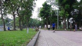 Απόγευμα στο πάρκο πόλεων απόθεμα βίντεο