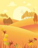 Απόγευμα φθινοπώρου ελεύθερη απεικόνιση δικαιώματος