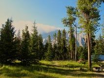 Απόγευμα Campground Στοκ εικόνες με δικαίωμα ελεύθερης χρήσης