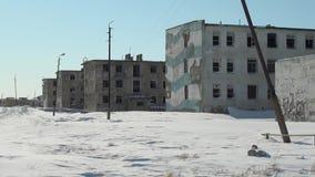 Απόγνωση ανθρακωρυχεία στα εγκαταλειμμένα εγκαταλειμμένα πόλεων απόθεμα βίντεο