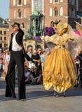 Απόδοση διενεργηθε'ντων byThe κυριώτερων σημείων θεάτρων οδών του Κίεβου χορού των θέαμα στη 31η οδό - διεθνές φεστιβάλ της οδού  Στοκ εικόνες με δικαίωμα ελεύθερης χρήσης