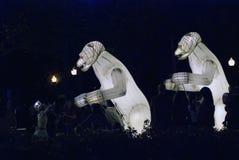 Απόδοση θεάτρων Menage Remue στο πάρκο του Γκόρκυ στη Μόσχα στοκ φωτογραφία με δικαίωμα ελεύθερης χρήσης