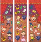 Απόδοση παιδιών στο θέατρο Παιδικός σταθμός μουσικός Παιχνίδι σχολικών παιδιών Στάδιο, entertaiment, κινηματογράφος ελάχιστα ελεύθερη απεικόνιση δικαιώματος