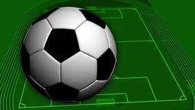 Απόδοση του βίντεο σε HD ενός γηπέδου ποδοσφαίρου διανυσματική απεικόνιση