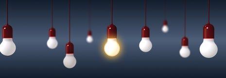 Απόδοση των λαμπών φωτός στο μπλε υπόβαθρο Στοκ εικόνα με δικαίωμα ελεύθερης χρήσης