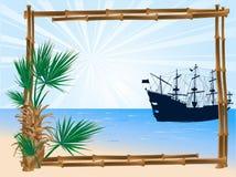 απόθεμα απεικόνισης πλαισίων μπαμπού Στοκ εικόνα με δικαίωμα ελεύθερης χρήσης