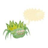 απόκοσμη αράχνη κινούμενων σχεδίων με τη λεκτική φυσαλίδα Στοκ Εικόνα