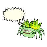 απόκοσμη αράχνη κινούμενων σχεδίων με τη λεκτική φυσαλίδα Στοκ φωτογραφίες με δικαίωμα ελεύθερης χρήσης