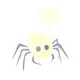 απόκοσμη αράχνη κρανίων αποκριών κινούμενων σχεδίων με τη λεκτική φυσαλίδα Στοκ φωτογραφίες με δικαίωμα ελεύθερης χρήσης
