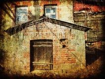 Απόκοσμος το σπίτι τούβλου στοκ φωτογραφία με δικαίωμα ελεύθερης χρήσης