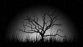 Απόκοσμο δέντρο   Μονοχρωματικός διανυσματική απεικόνιση