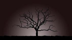 Απόκοσμο δέντρο   Μονοχρωματικός ελεύθερη απεικόνιση δικαιώματος