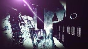 Απόκοσμο κάστρο Dracula διανυσματική απεικόνιση