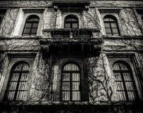 Απόκοσμο σπίτι με τις νεκρές αμπέλους Στοκ φωτογραφίες με δικαίωμα ελεύθερης χρήσης