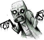 Απόκοσμο Zombie Απεικόνιση αποθεμάτων
