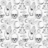 Απόκρυφος, μαγικός, υπόβαθρο Θρησκεία και ο αποκρυφισμός με το esote απεικόνιση αποθεμάτων