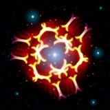Απόκρυφο λαμπρό αστέρι με τα σπινθηρίσματα απεικόνιση αποθεμάτων