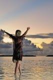 απόλαυση της ελευθερί&alph Στοκ Φωτογραφία