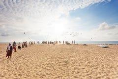 Απόλαυση του ηλιοβασιλέματος, Σρι Λάνκα Στοκ εικόνες με δικαίωμα ελεύθερης χρήσης