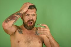 Απόλυση και δίψα, πονοκέφαλος στοκ εικόνες με δικαίωμα ελεύθερης χρήσης