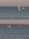 Απόμακρες πλέοντας βάρκες στοκ φωτογραφία με δικαίωμα ελεύθερης χρήσης