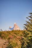 Απόμακρη άποψη βουνών της Fitz Roy, Aisen Χιλή Στοκ Φωτογραφία