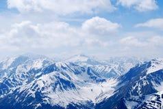 Απόμακρη άποψη μιας σειράς βουνών Στοκ εικόνα με δικαίωμα ελεύθερης χρήσης