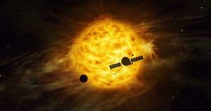 Απόμακρη εξερεύνηση διαστημικών σκαφών ηλιακών συστημάτων ελεύθερη απεικόνιση δικαιώματος