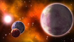 απόμακροι πλανήτες βρόχος απεικόνιση αποθεμάτων