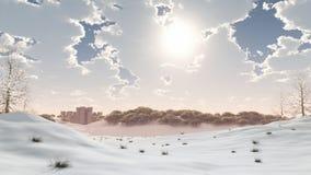 απόμακρος χειμώνας χιονι&o στοκ φωτογραφία