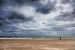 Απόμερος αριθμός στην παραλία Harve Aubert στοκ εικόνες με δικαίωμα ελεύθερης χρήσης