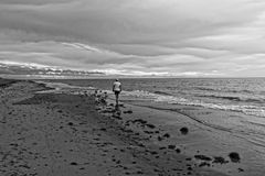 Απόμερος περίπατος στην παραλία Στοκ Εικόνες