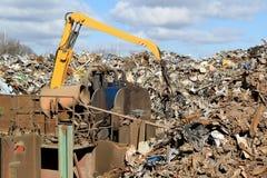 Απόρριμα μετάλλων στην ανακύκλωση της περιοχής Στοκ φωτογραφία με δικαίωμα ελεύθερης χρήσης