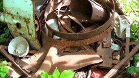 Απόρριψη αποβλήτων των βιομηχανικών εγκαταστάσεων Σίδηρος, μέταλλο απόθεμα βίντεο