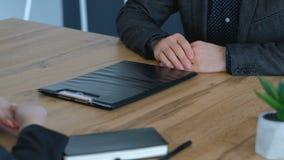 Απόρριψη αποτυχίας σχεδίων μάρκετινγκ συνέντευξης εργασίας απόθεμα βίντεο