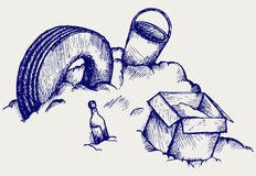 Απόρριψη. Βουνό των απορριμάτων ελεύθερη απεικόνιση δικαιώματος