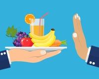 Απόρριψη των προσφερθε'ντων υγιών τροφίμων ελεύθερη απεικόνιση δικαιώματος