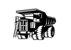 Απόρριψη truckBelAZ διανυσματική απεικόνιση