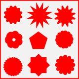 Απόσπασμα, εικονίδια υποσημειώσεων αστερίσκων Κοινωνικά μέσα και ampersand σύμβολα Hashtag Στοκ Φωτογραφίες