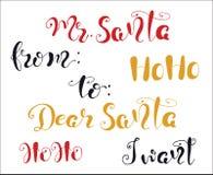 Απόσπασμα Χαρούμενα Χριστούγεννας που γράφει αγαπητό Santa, Ho ho, θέλω απεικόνιση αποθεμάτων