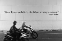 Απόσπασμα Bandung ` s στοκ φωτογραφίες με δικαίωμα ελεύθερης χρήσης